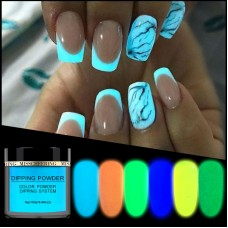New 1box Neon Phosphor Dipping Powder Luminous Nail Art Decorations Fluorescent Glitter Glow Pigment Dust UV Gel Polish Design