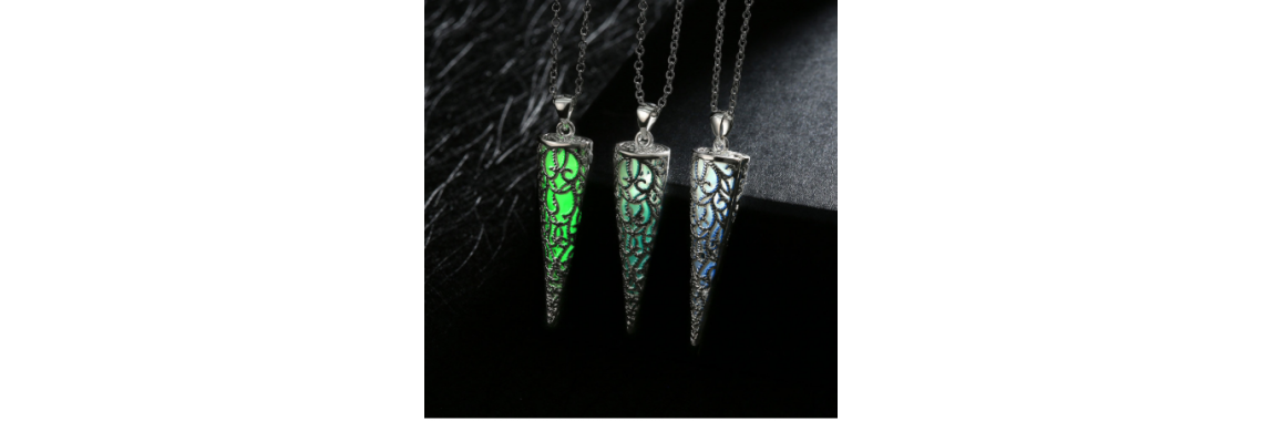 Glow N Dark Crystal Necklaces